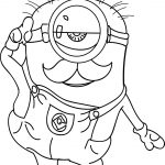 Old Minion Coloring Page