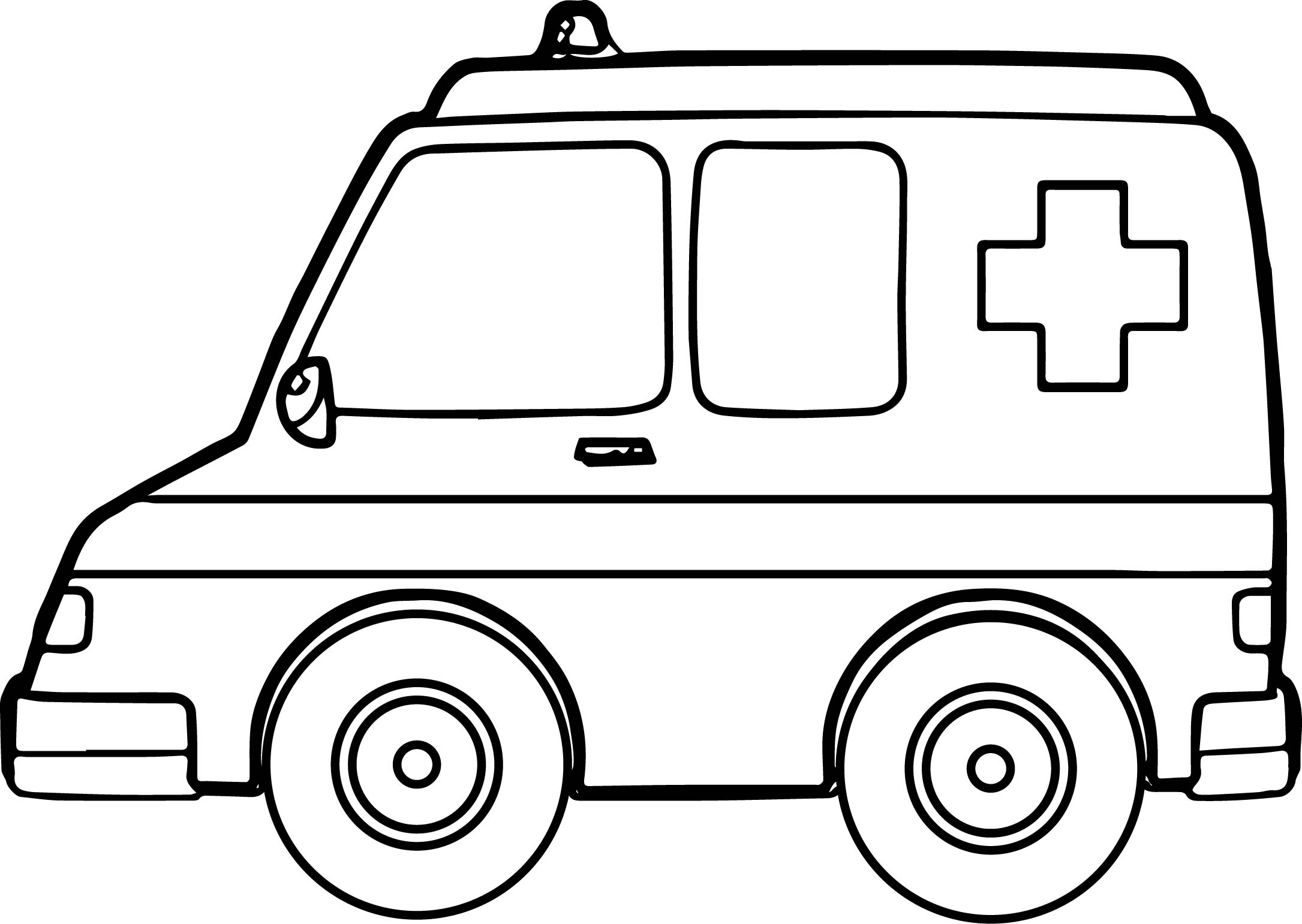 One Ambulance Coloring Page | Wecoloringpage.com