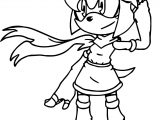 One Amy Rose Coloring Page