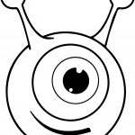 One Eye Alien Coloring Page