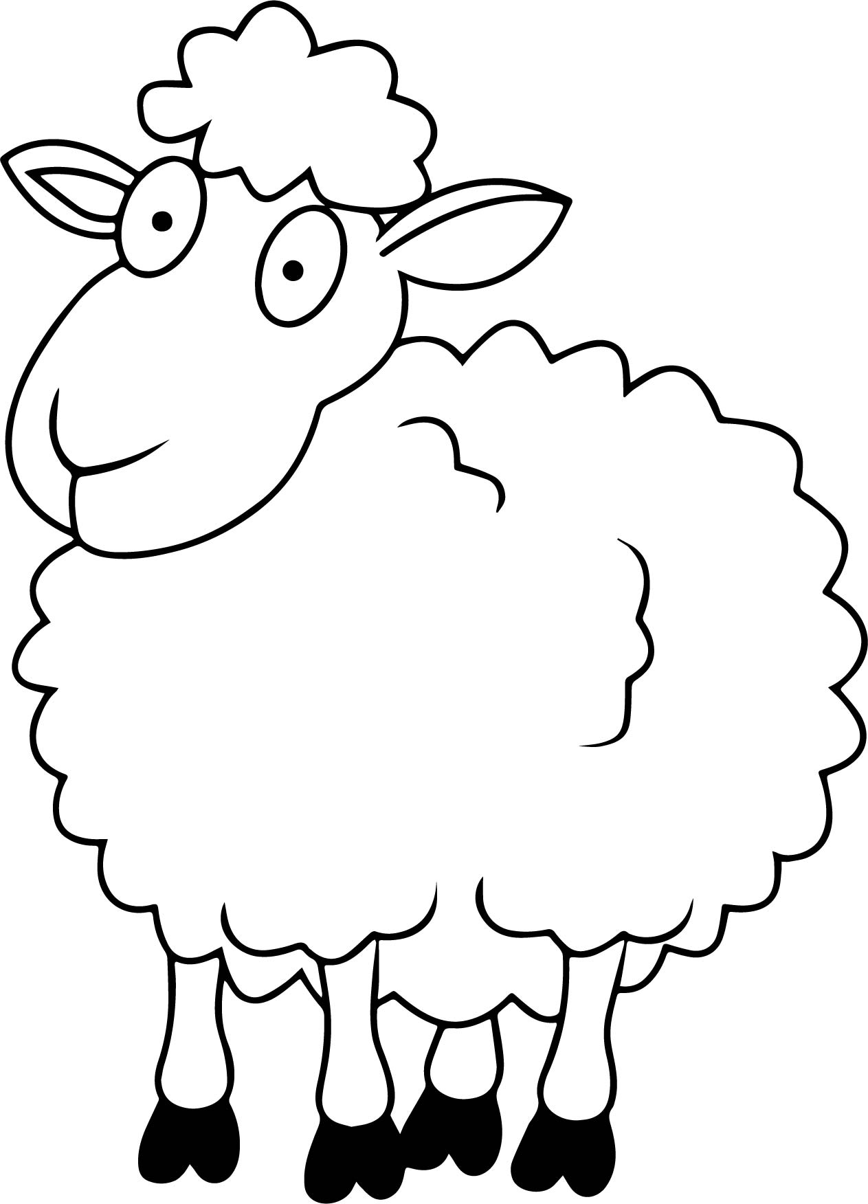 One Sheep Coloring Page