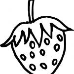 One Strawberry Coloring Page