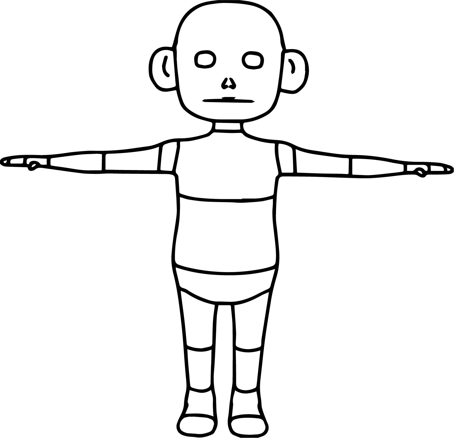 Open Arms Space Monkey Coloring Page