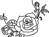 Orniment Rose Coloring Page