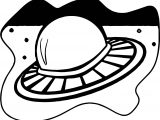 Outer Space Flying Saucer Coloring Page