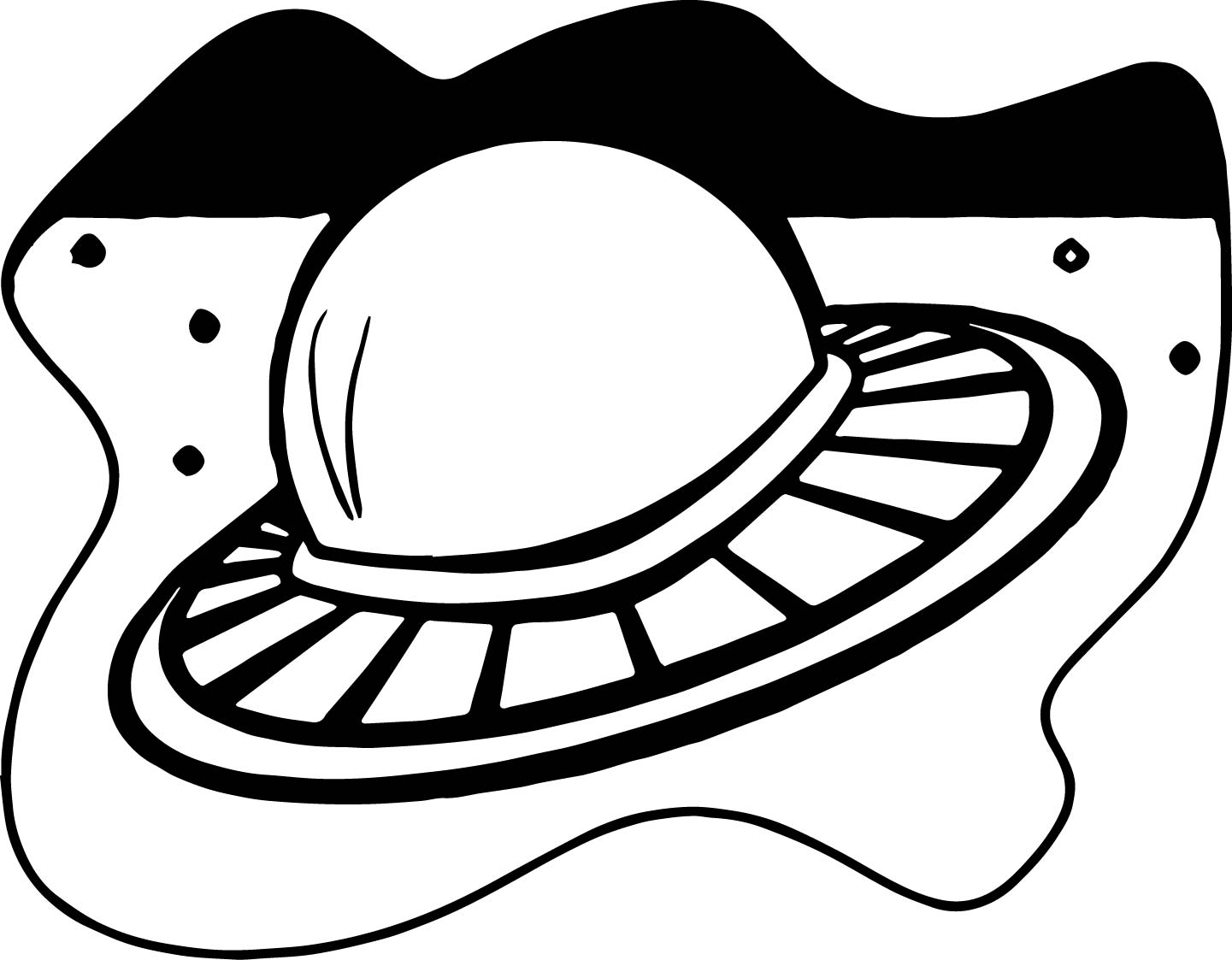 Flying Saucer Coloring Pages Coloring Pages