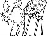 Painter Girl Coloring Page