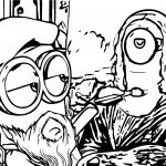 Painting The Mona Minion Coloring Page