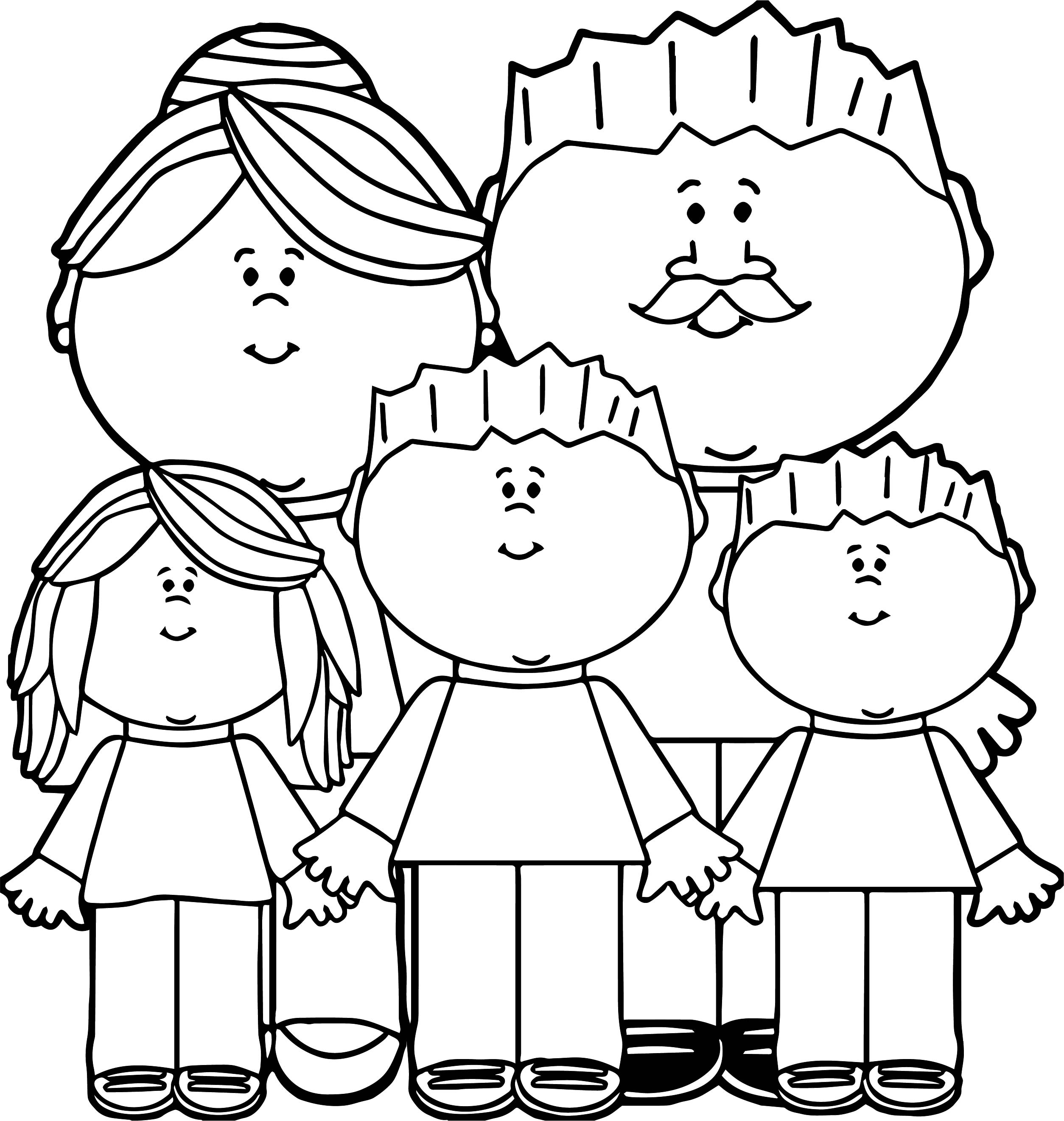 parents and kids family coloring page wecoloringpagecom