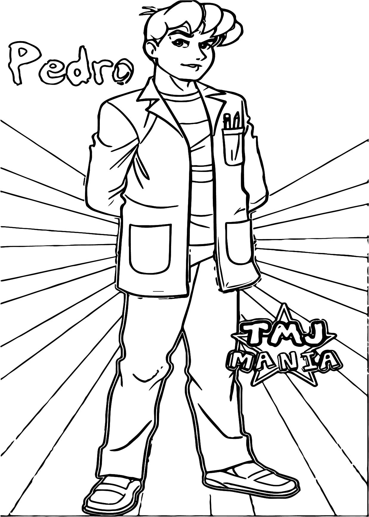 Pedro Coloring Page