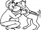 People Dogs Friends Best Coloring Page