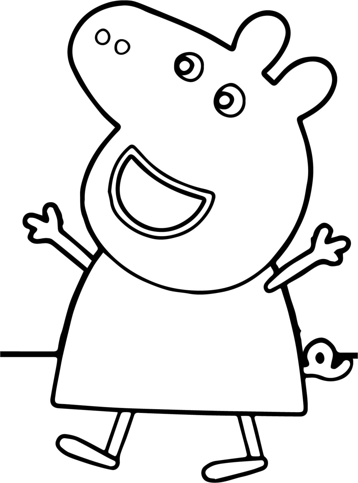 Peppa Pig Happy Coloring Page