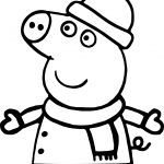 Peppa Weather Snow Coloring Page