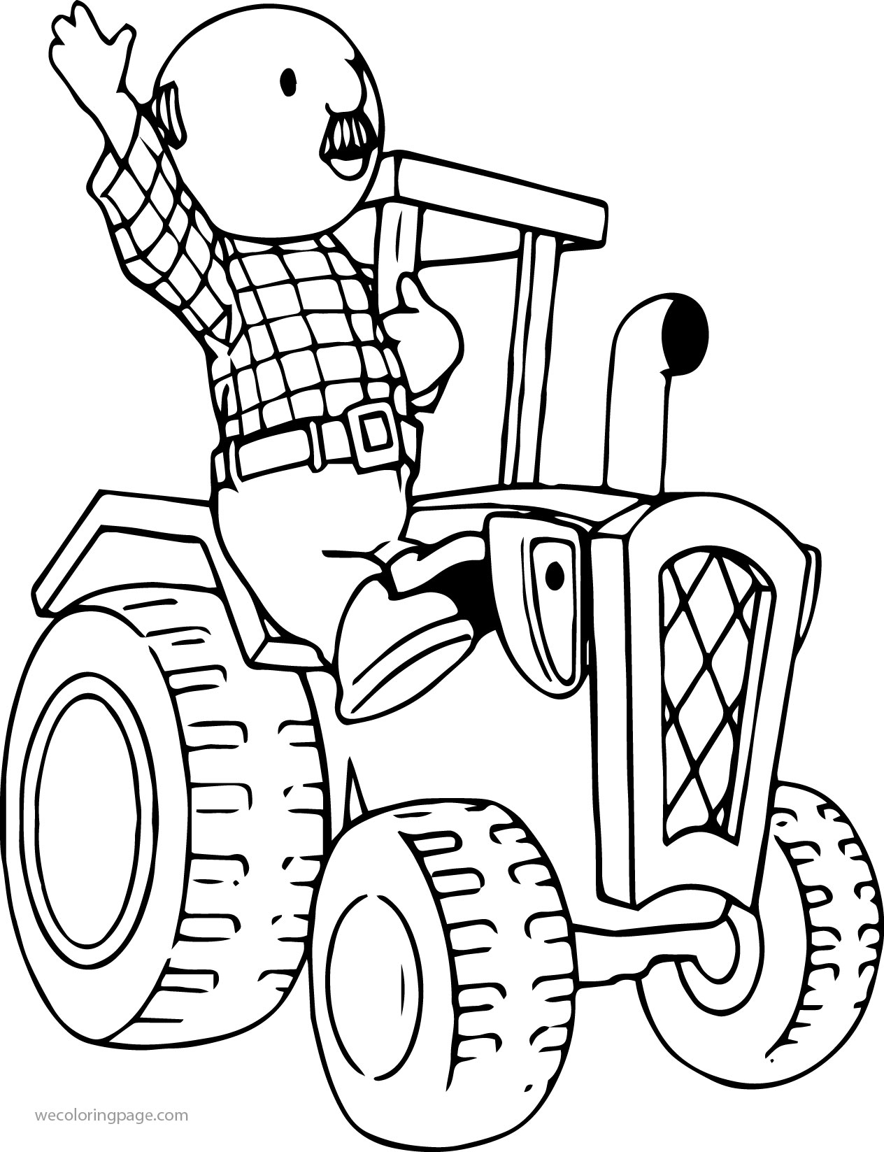 Percy Pickles Driving Tractor Coloring Page | Wecoloringpage.com