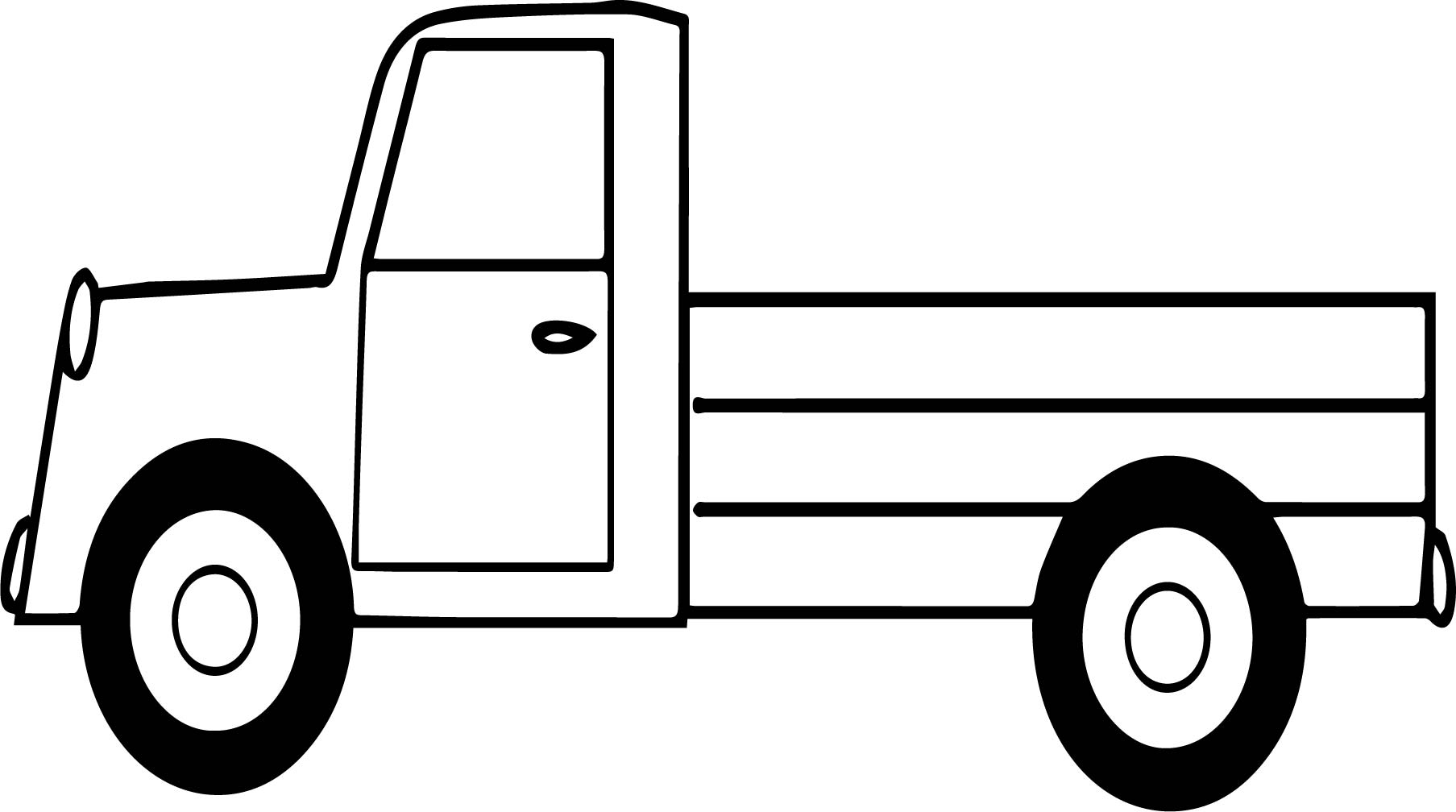 Pickup Truck Image Coloring Page