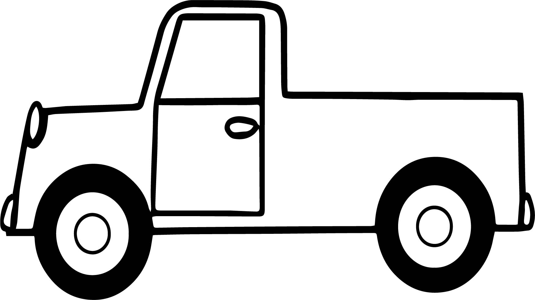 Pickup Truck Picture Coloring Page
