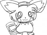 Pikachu Amy Rose Coloring Page