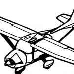 Plane White Body Coloring Page