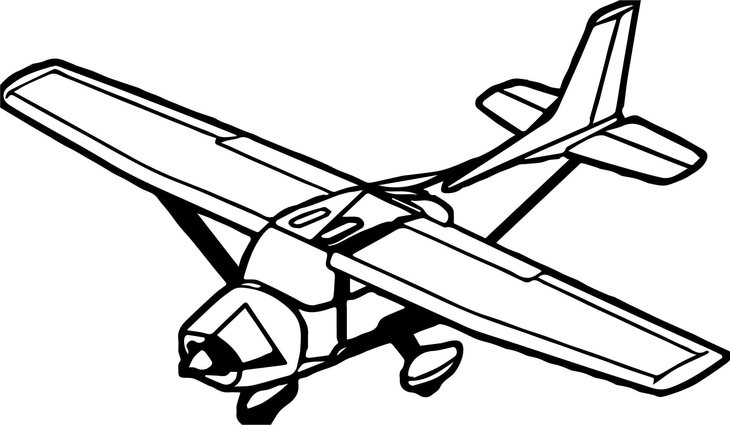 Plane White Body Coloring Page