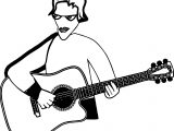 Play Guitar Hi Playing The Guitar Coloring Page
