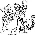 Pooh Tigger And Pigglet Coloring Page