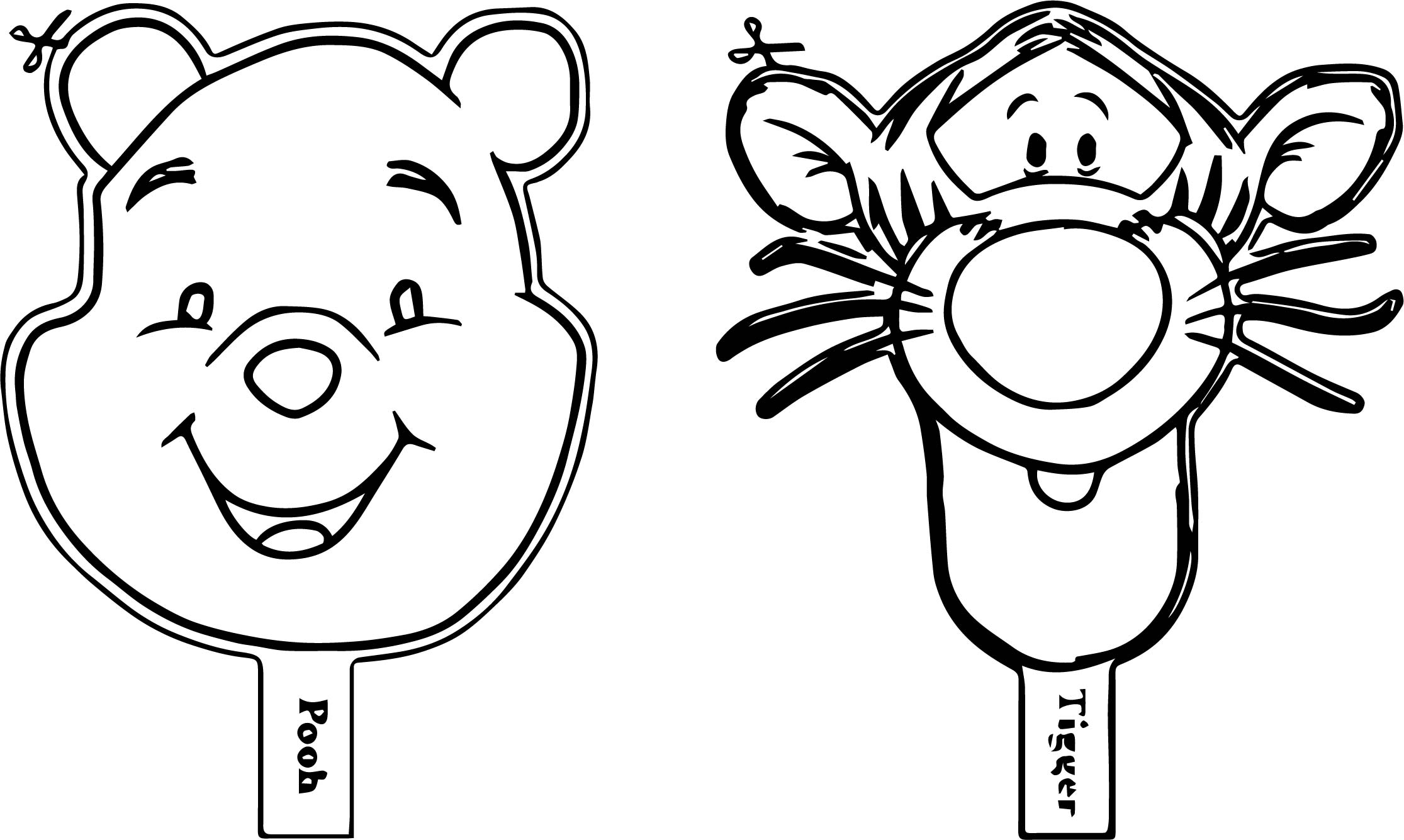 Pooh tigger coloring page for Tigger and pooh coloring pages