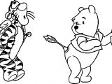 Pooh Tigger Cupid Wrong Target Arrow Coloring Page