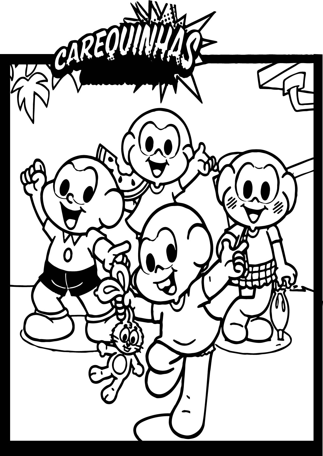 Post Graacc Turma Monica Carequinhas Coloring Page