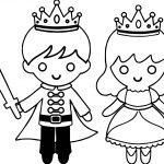 Prince Princess Warrior Coloring Page