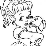 Princess And Dog Coloring Page
