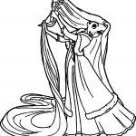 Princess Brush Hair Coloring Page