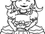 Princess Halloween Pumpkin Coloring Page
