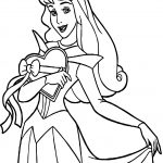 Princess Heart Coloring Page