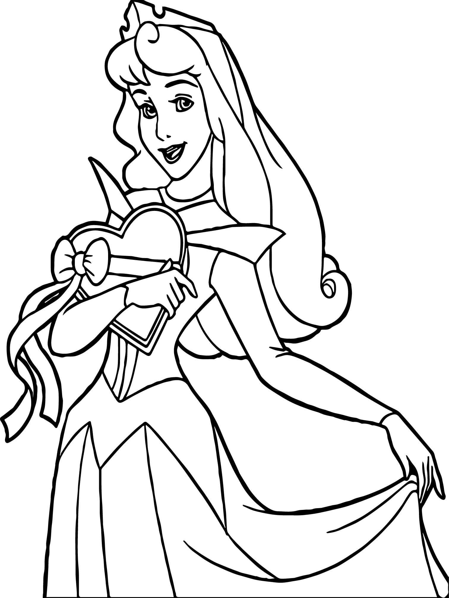 Princess Heart Coloring Page