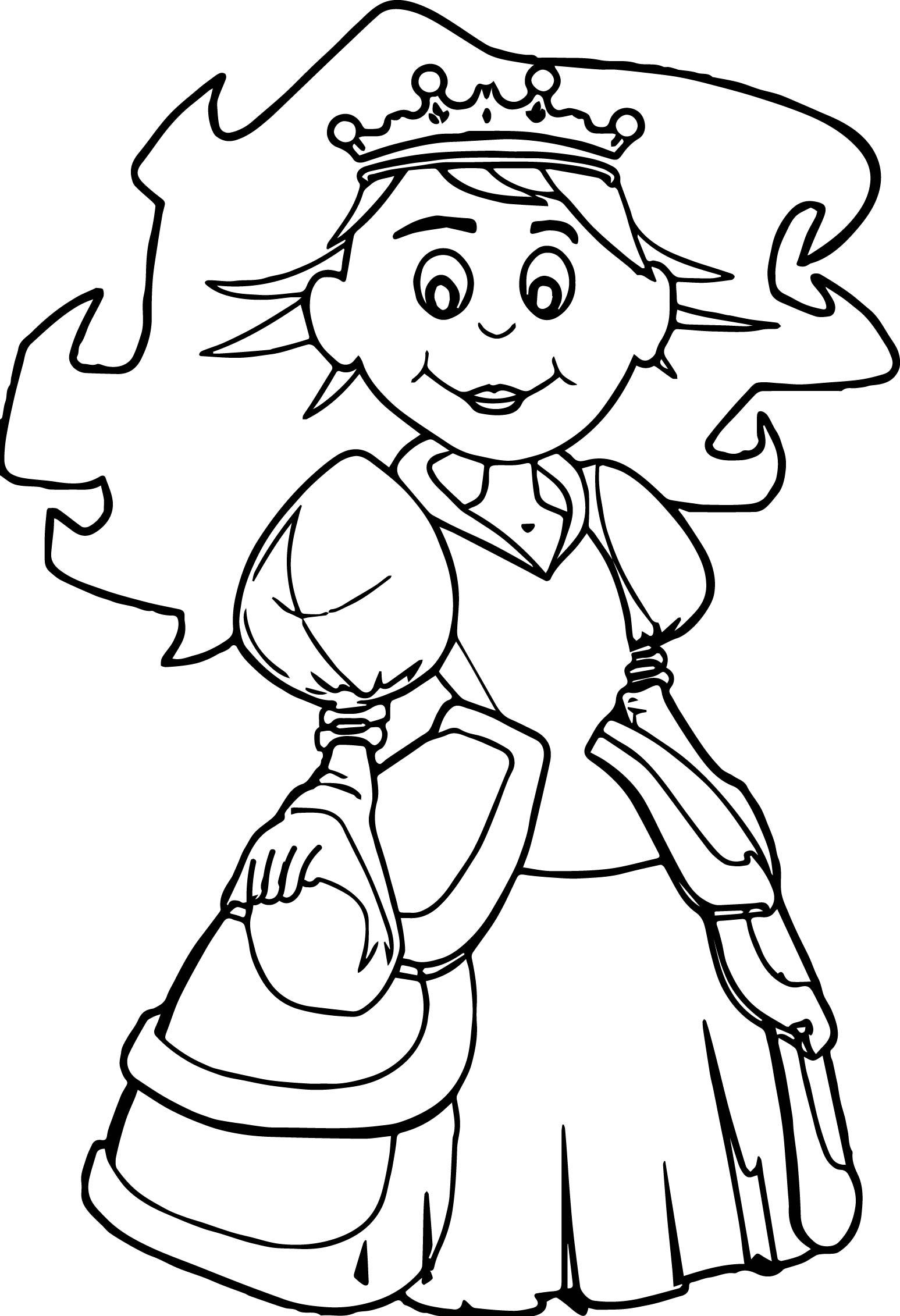 Princess Hi Say Girl Coloring Page