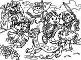 Princess Turma Monica Horsemen Coloring Page