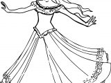 Princess Turn Coloring Page