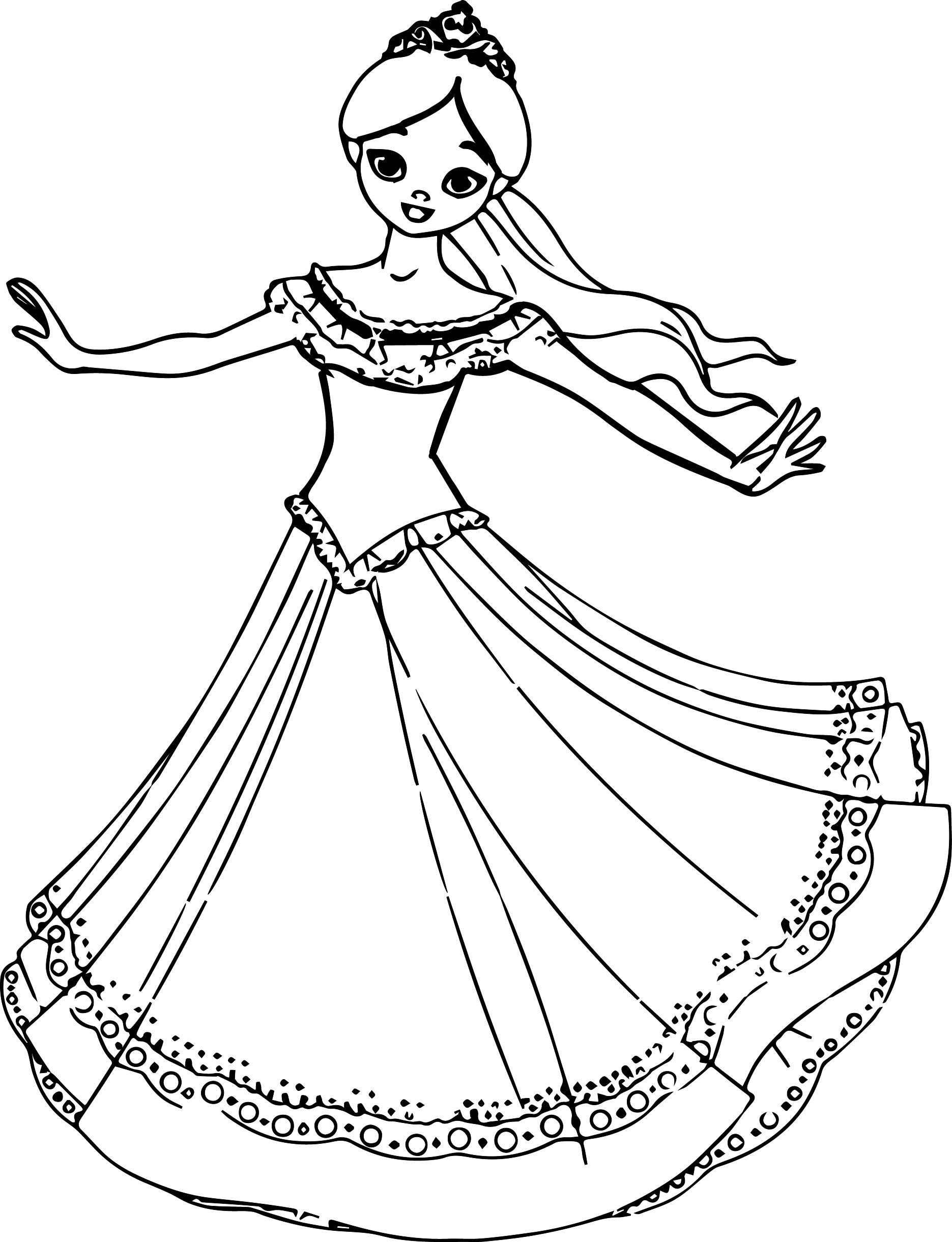 Princess Turn Coloring Page