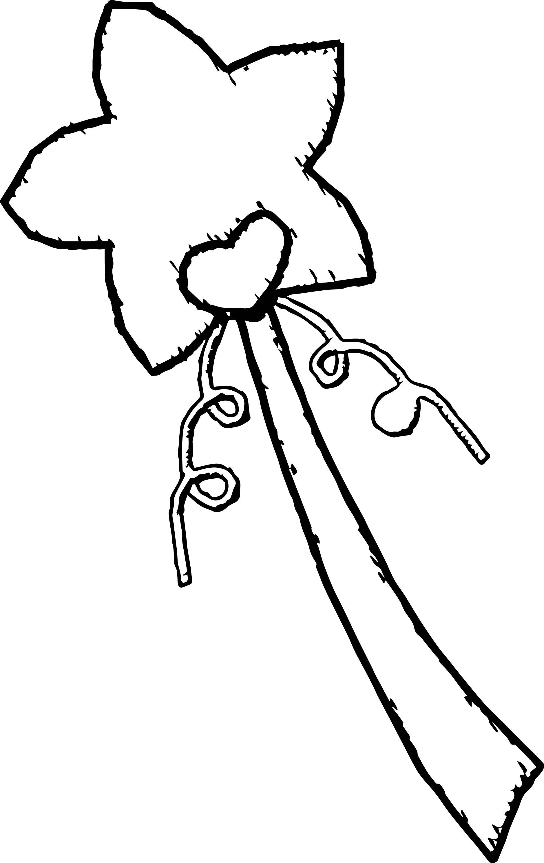 Prince Wand: Princess Wand Coloring Page