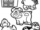 Printable Barnyard Family Coloring Page
