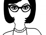 Professional Illustration Of An A Professional African American Lady Wearing Glasses Coloring Page