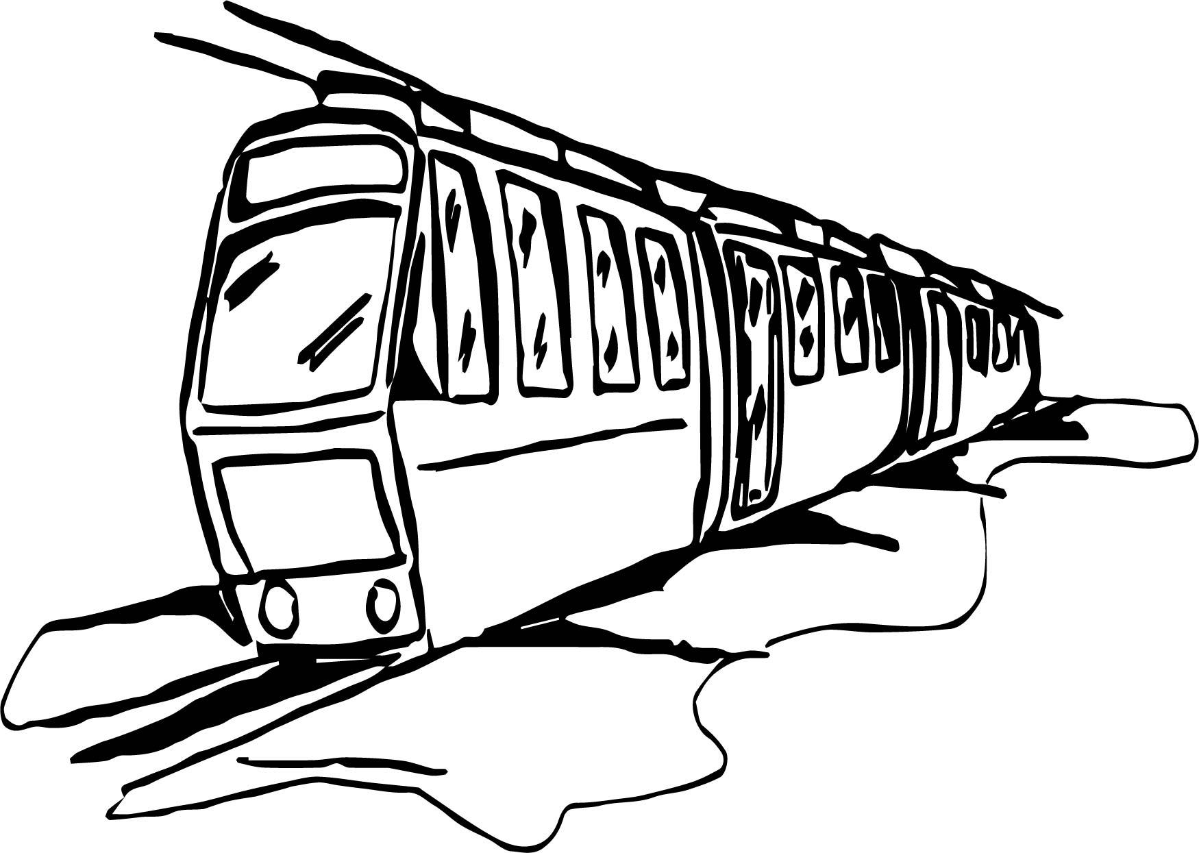 Rain Train Coloring Page