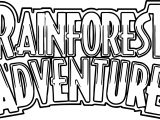 Rainforest Adventure Text Coloring Page