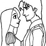 Rapunzel Amd Flynn Coloring Page