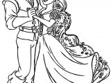 Rapunzel And Flynn Dance Coloring Page
