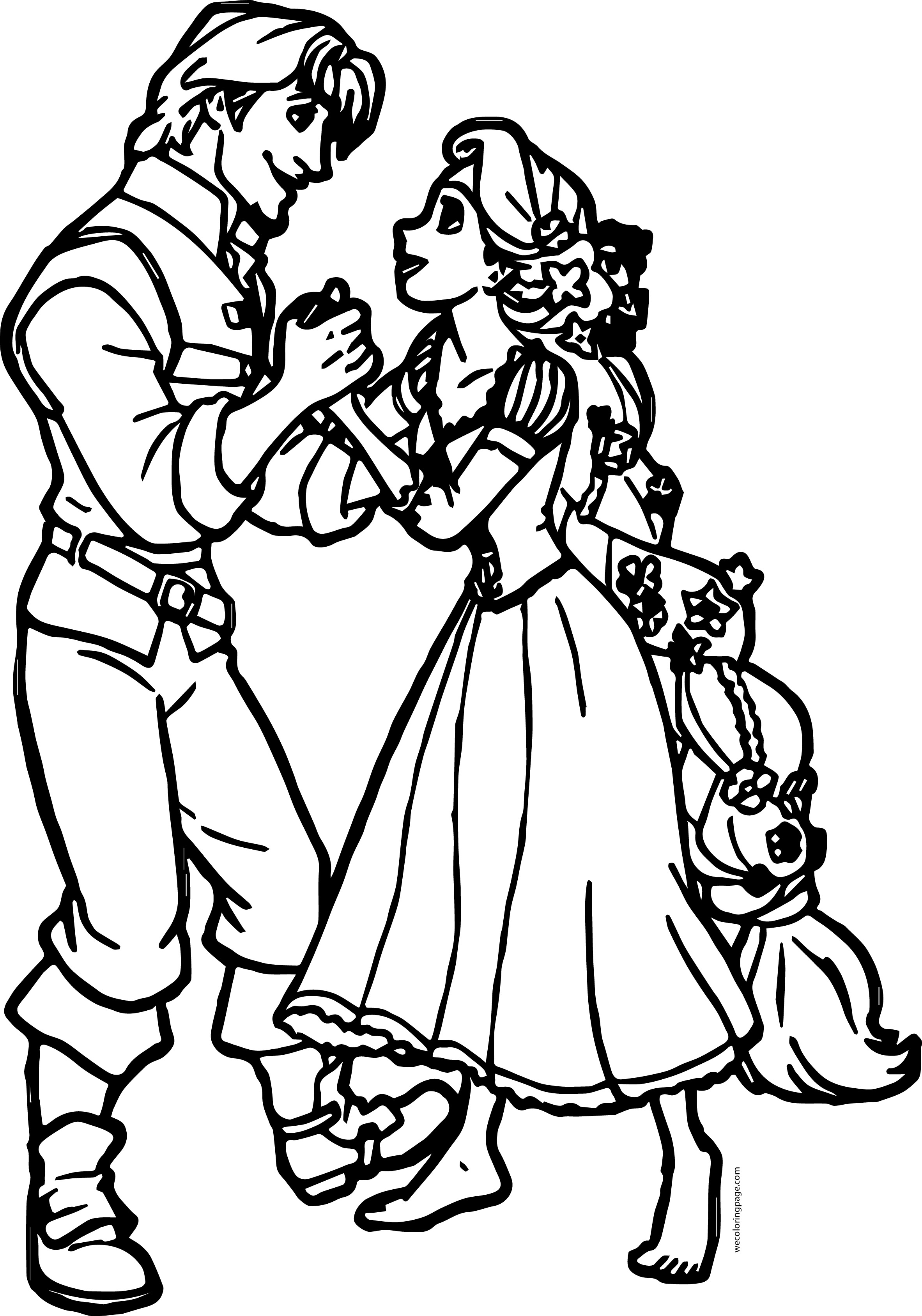 Rapunzel And Flynn Together Coloring Page