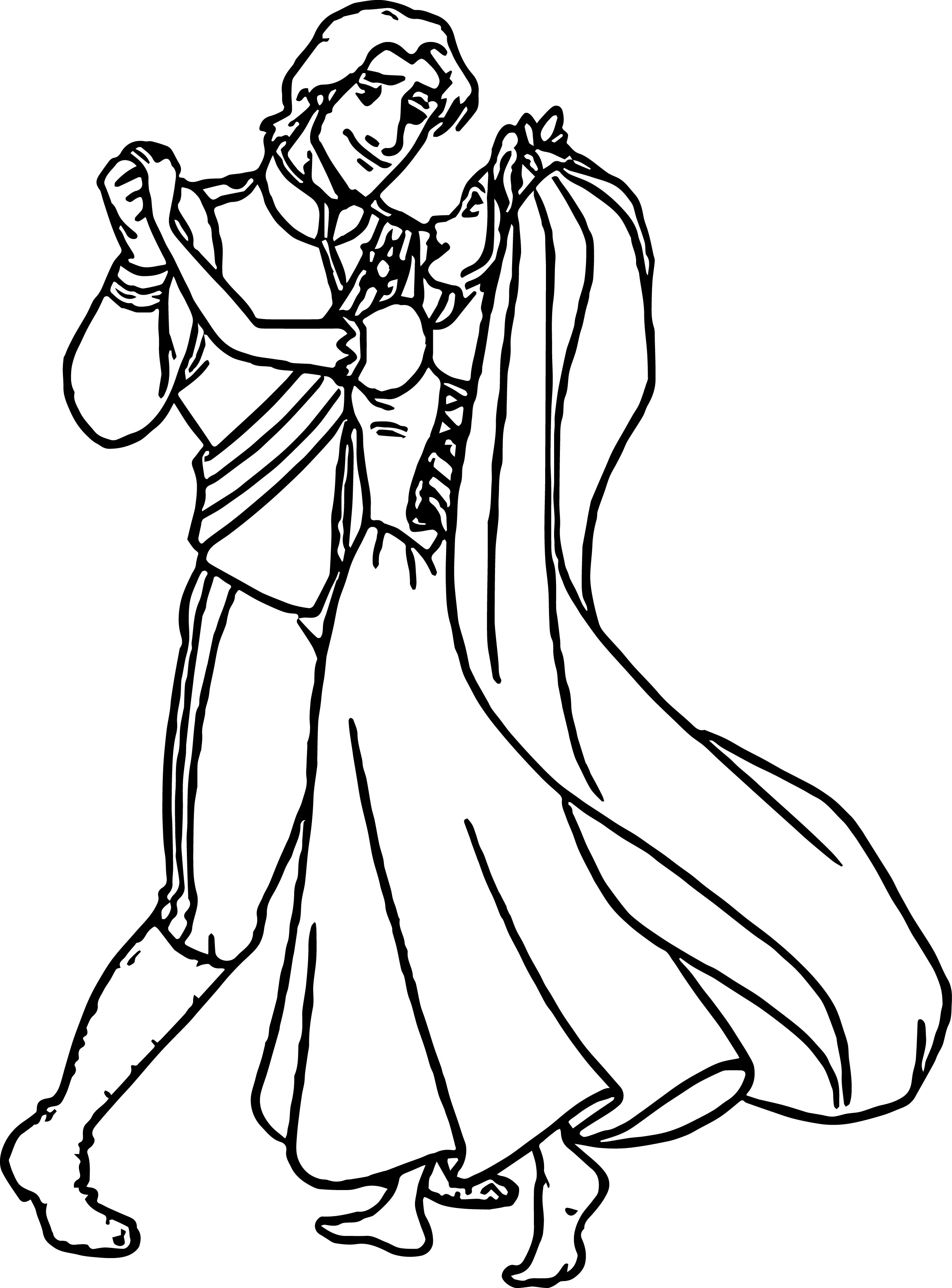 rapunzel and flynn wedding dance coloring page wecoloringpage