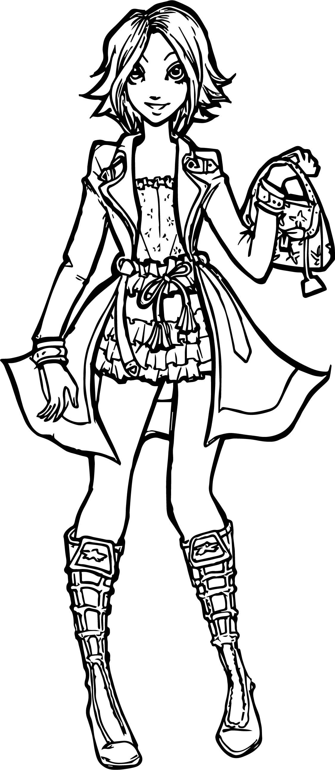 female coloring pages - rapunzel woman modern girl coloring page