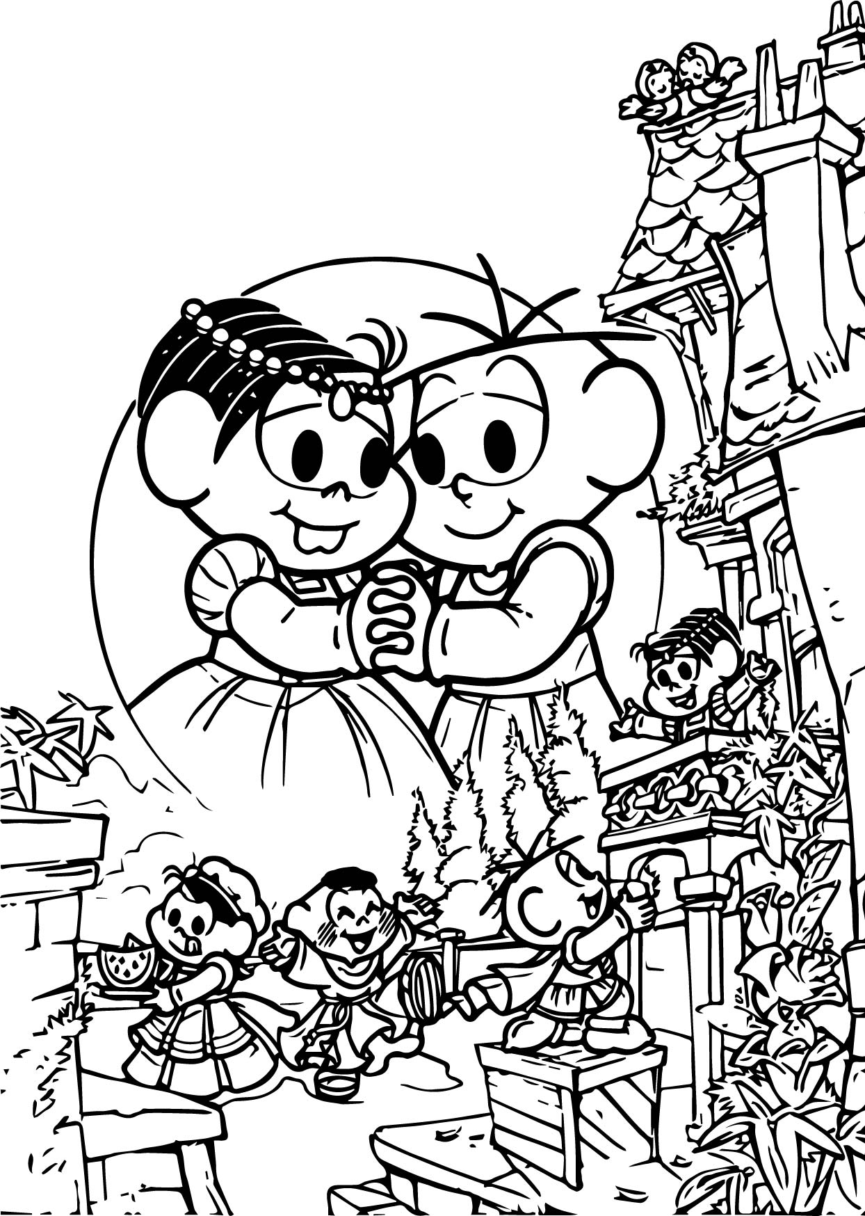 Romeo Juliet Monica Coloring Page