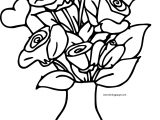 Rose Bucket In Vase Coloring Page